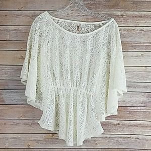 Route 66 lace wing peblum top